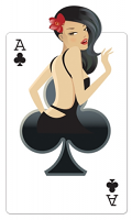 Ace of Clubs 'Babe' Playing Cards - Cardboard Cutout
