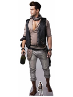 Male Pirate with Bottle of Rum Cardboard Cutout