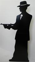 Gangster silhouette (single) Black - Cardboard Cutout