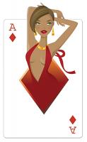 Ace of Diamonds 'Babe' Playing Card Vegas Style Cutout