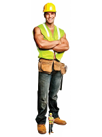 Construction Chippendales Lifesize Cardboard Cutout with Free Mini Standee