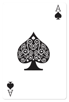 Ace of Spades Casino Playing Card - Cardboard Cutout