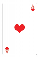Ace of Hearts Casino Playing Card - Cardboard Cutout