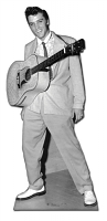 Elvis Guitar hanging from neck Cardboard Cutout