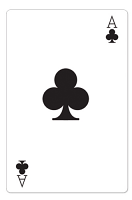Ace of Clubs Casino Playing Card - Cardboard Cutout
