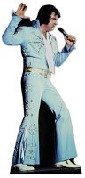Elvis Blue Jump Suit - Cardboard Cutout
