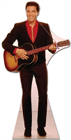 Elvis Red Shirt and Guitar - Cardboard Cutout