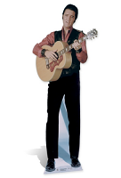 Elvis Singing with Guitar - Cardboard Cutout