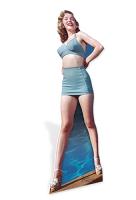 Marilyn Monroe 'Blue Bikini' Cardboard Cutout