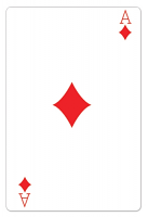 Ace of Diamonds Casino Playing Card - Cardboard Cutout