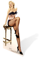 Marilyn Monroe 'Net-stockings' Cardboard Cutout