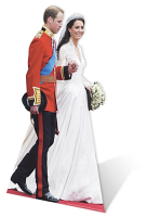 William and Kate Wedding - Cardboard Cutout
