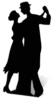 Salsa Dancer (Silhouette) Black - Cardboard Cutout