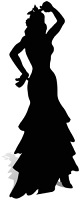 Flamenco Dancer (Silhouette) Black - Cardboard Cutout
