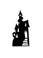 Large Haunted House (Silhouette) Cardboard cut out Halloween