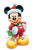 Disney Christmas Mickey Mouse Winter Hat and Scarf Star-Mini