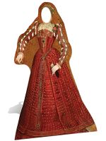 Tudor Woman Stand-In Cardboard Cutout