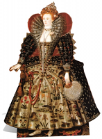 Queen Elizabeth I History Cutout Royal Theme - Cardboard Cutout