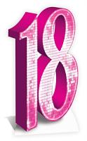 Number 18 (PINK) - Cardboard Cutout