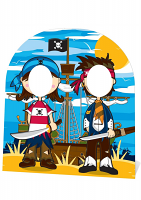 Pirate Friends Stand-In (Child-sized) - Cardboard Cutout