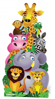 Jungle Friends Cut-out - Cardboard Cutout