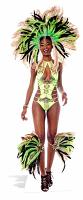 Mardi-Gras Brazilian Babe - Cardboard Cutout