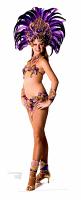 Carnival Purple Peacock Babe - Cardboard Cutout