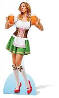 Oktoberfest Beer Babe - Cardboard Cutout