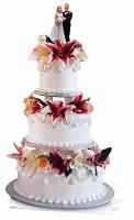 Glamorous Wedding Cake - Cardboard Cutout