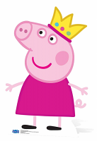 Princess Peppa Pig Crown - Cardboard Cutout