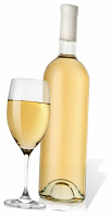 Glass and White Wine - Cardboard Cutout