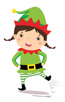 Mini Christmas Elf - Cardboard Cutout