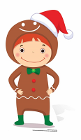 Mini Christmas Gingerbread Boy - Cardboard Cutout