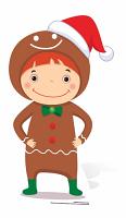 Mini Christmas Gingerbread Boy - Cardboard Cutout