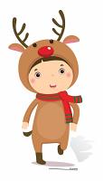 Mini Christmas Reindeer - Cardboard Cutout