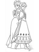 Anna & Elsa Colour-In Cutout