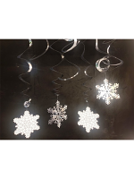 Snowflake Hanging Whirl Decoration