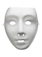 Mask Robot White For Own Decoration, Full Mask.