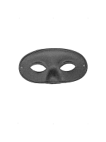 Burglar, Black Satin, Covers Nose, Eye Mask