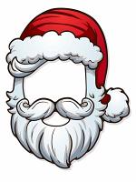 Father Christmas Open Face Mask (Santa)