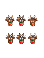 Rudolph the Red Nose Reindeer Six Pack of Masks