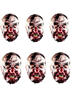 Six Pack Zombie Face Masks