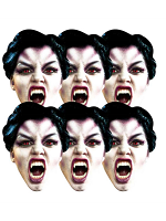 Vampire Six Pack Face Mask