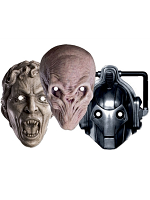 Doctor Who Monsters - Face Mask Three Pack (Cyberman, WEEPING ANGEL, SILENT