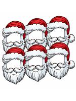 Christmas Santa Open Face Six Pack Mask