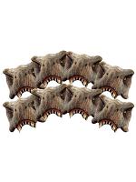 8 pack T-Rex Half Mask (Jurassic World) Dinosaurs Tyrannosaurus Rex