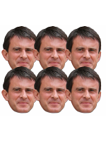 Manuel Valls 6 Pack of Masks Great Fun for Politics Parties and Fans