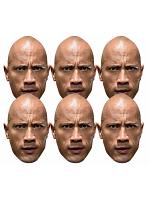 The Rock WWE Masks 6 Pack of Wrestling Masks