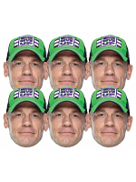 John Cena 6 Pack WWE Masks WWE Masks 6 Pack of Wrestling Masks