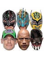 WWE Multipack Wrestler Masks includes Sin Cara Kalisto Rey Mysterio Finn Balor John Cena The Rock